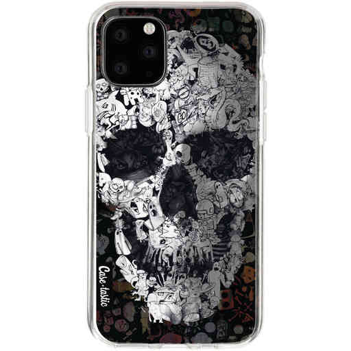 Casetastic Softcover Apple iPhone 11 Pro - Doodle Skull BW
