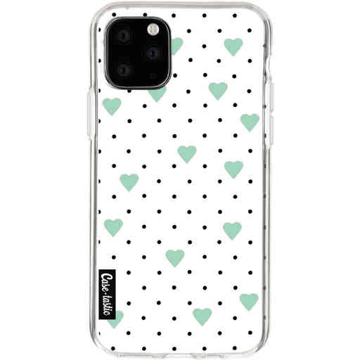 Casetastic Softcover Apple iPhone 11 Pro - Pin Point Hearts Mint