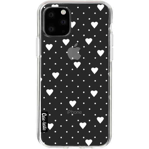 Casetastic Softcover Apple iPhone 11 Pro - Pin Point Hearts White Transparent