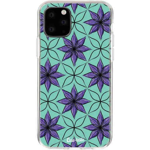 Casetastic Softcover Apple iPhone 11 Pro - Statement Flowers Purple