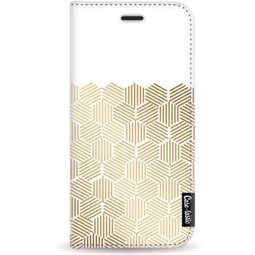 Casetastic Wallet Case White Apple iPhone 11 Pro - Golden Hexagons
