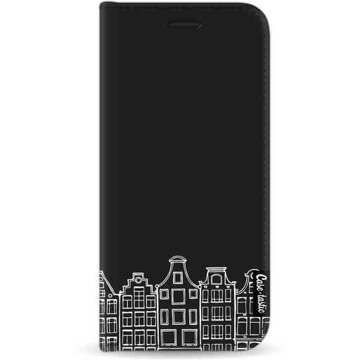 Casetastic Wallet Case Black Apple iPhone 11 - Amsterdam Canal Houses White
