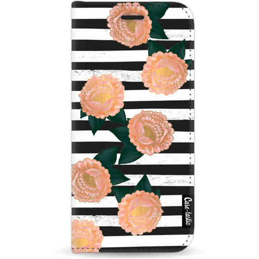 Casetastic Wallet Case Black Apple iPhone 11 - Striped Winter Flowers