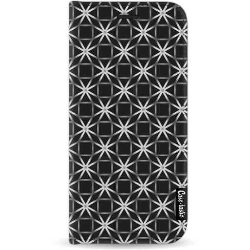 Casetastic Wallet Case Black Apple iPhone 11 - Geometric Lines Silver