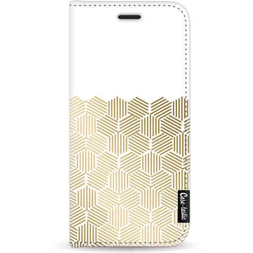 Casetastic Wallet Case White Apple iPhone 11 - Golden Hexagons