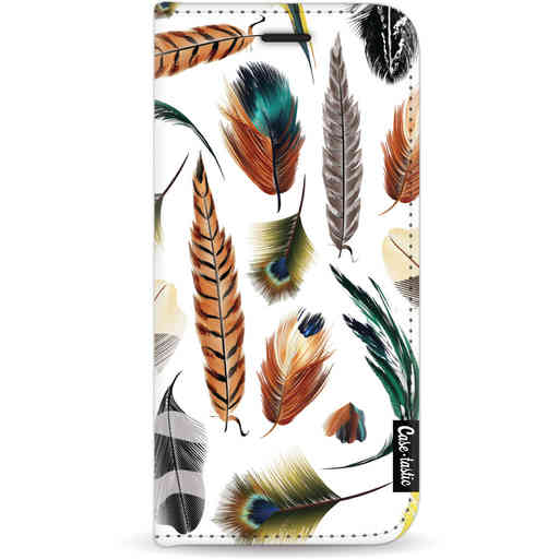 Casetastic Wallet Case White Apple iPhone 11 - Feathers Multi