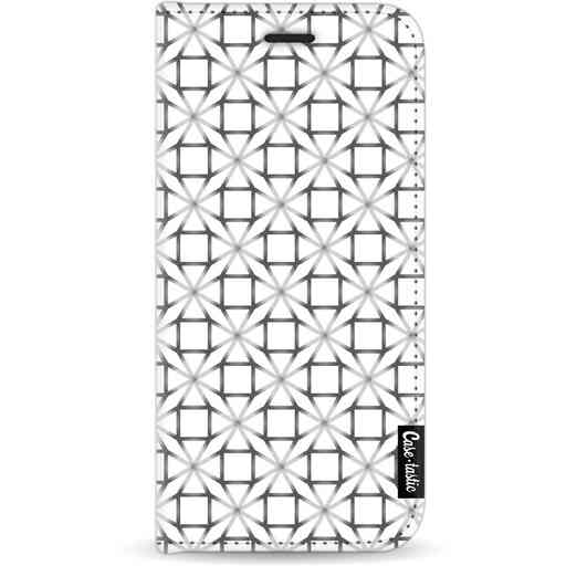 Casetastic Wallet Case White Apple iPhone 11 - Geometric Lines Silver