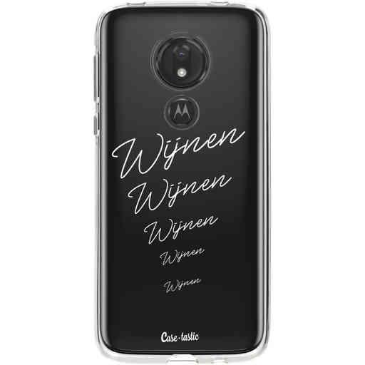 Casetastic Softcover Motorola Moto G7 Power - Wijnen, wijnen, wijnen!