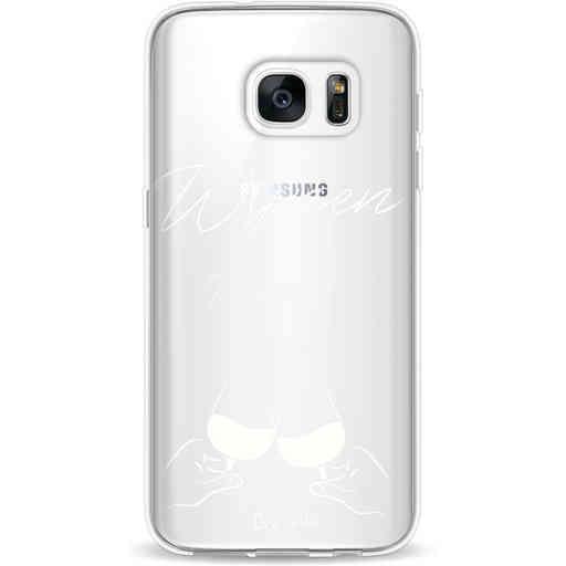 Casetastic Softcover Samsung Galaxy S7 - Wijnen, wijnen, wijnen, cheers