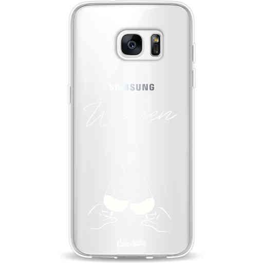 Casetastic Softcover Samsung Galaxy S7 Edge - Wijnen, wijnen, wijnen, cheers