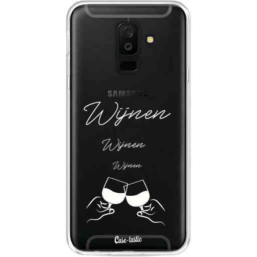 Casetastic Softcover Samsung Galaxy A6 Plus (2018) - Wijnen, wijnen, wijnen, cheers
