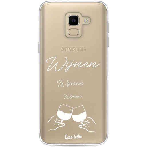 Casetastic Softcover Samsung Galaxy J6 (2018) - Wijnen, wijnen, wijnen, cheers