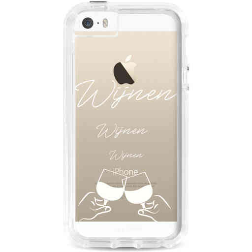 Casetastic Dual Snap Case Apple iPhone 5 / 5s / SE - Wijnen, wijnen, wijnen, cheers