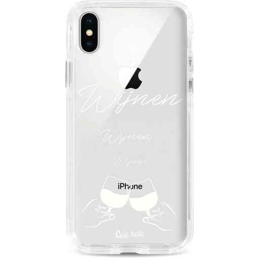 Casetastic Dual Snap Case Apple iPhone X / XS - Wijnen, wijnen, wijnen, cheers