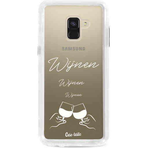 Casetastic Dual Snap Case Samsung Galaxy A8 (2018) - Wijnen, wijnen, wijnen, cheers