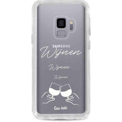 Casetastic Dual Snap Case Samsung Galaxy S9 - Wijnen, wijnen, wijnen, cheers