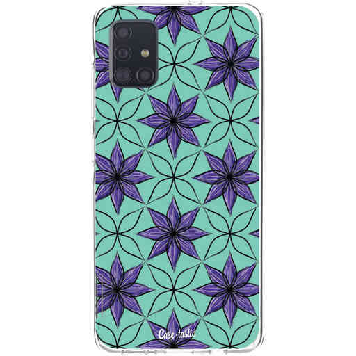 Casetastic Softcover Samsung Galaxy A51 (2020) - Statement Flowers Purple