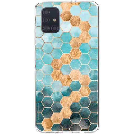 Casetastic Softcover Samsung Galaxy A51 (2020) - Honeycomb Art Blue