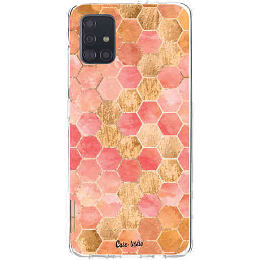 Casetastic Softcover Samsung Galaxy A51 (2020) - Honeycomb Art Coral