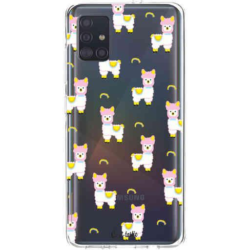 Casetastic Softcover Samsung Galaxy A51 (2020) - Rainbow Llama
