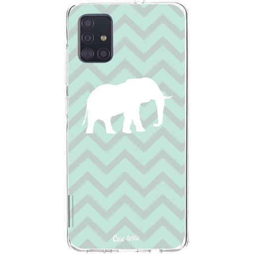 Casetastic Softcover Samsung Galaxy A51 (2020) - Elephant Chevron Pattern