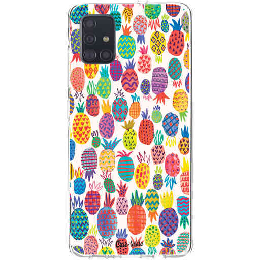 Casetastic Softcover Samsung Galaxy A51 (2020) - Happy Pineapples