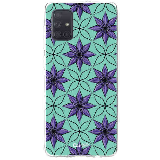 Casetastic Softcover Samsung Galaxy A71 (2020) - Statement Flowers Purple