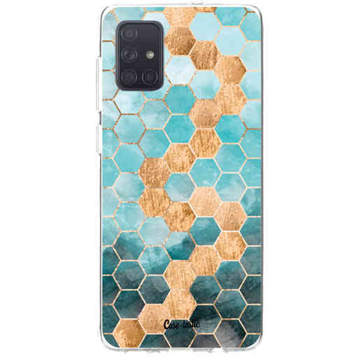 Casetastic Softcover Samsung Galaxy A71 (2020) - Honeycomb Art Blue