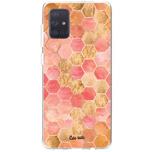 Casetastic Softcover Samsung Galaxy A71 (2020) - Honeycomb Art Coral