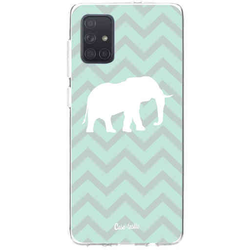 Casetastic Softcover Samsung Galaxy A71 (2020) - Elephant Chevron Pattern