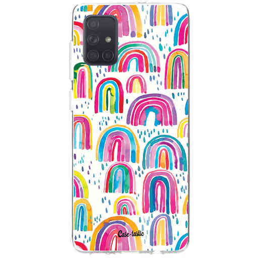 Casetastic Softcover Samsung Galaxy A71 (2020) - Sweet Candy Rainbows