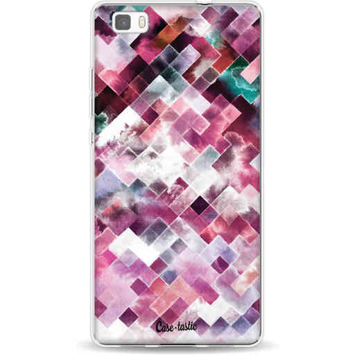 Casetastic Softcover Huawei P8 Lite - Watercolor Cubes