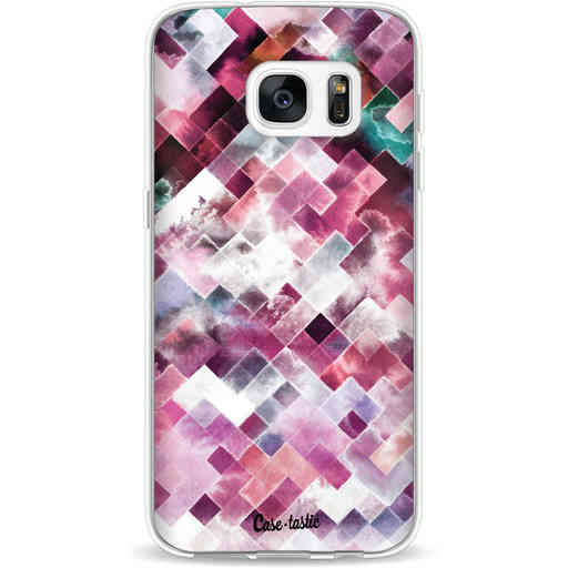 Casetastic Softcover Samsung Galaxy S7 - Watercolor Cubes