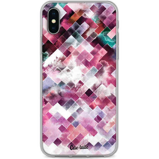Casetastic Softcover Apple iPhone X / XS - Watercolor Cubes
