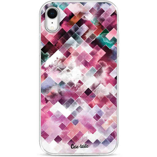 Casetastic Softcover Apple iPhone XR - Watercolor Cubes