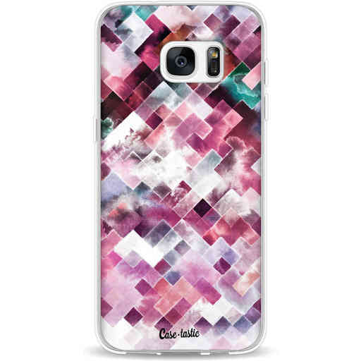 Casetastic Softcover Samsung Galaxy S7 Edge - Watercolor Cubes