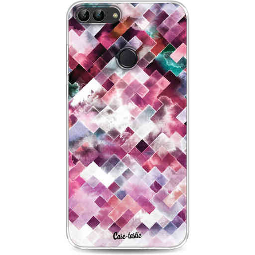 Casetastic Softcover Huawei P Smart - Watercolor Cubes