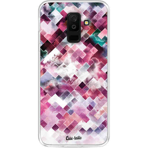Casetastic Softcover Samsung Galaxy A6 Plus (2018) - Watercolor Cubes