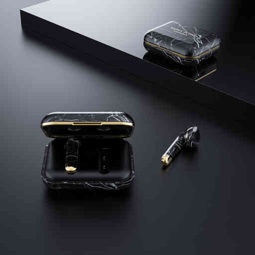 Happy Plugs Air 1 Black Marble