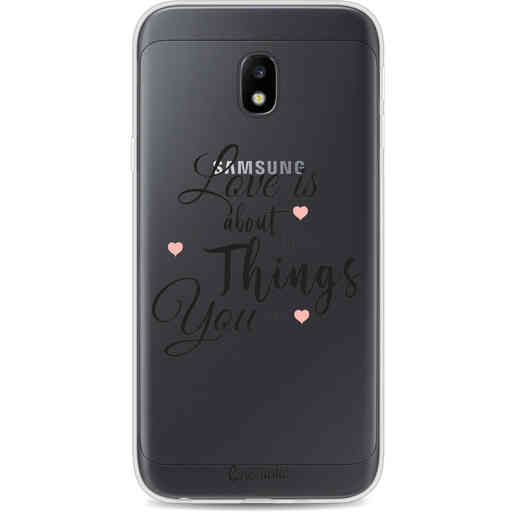 Casetastic Softcover Samsung Galaxy J3 (2017)  - Love is about