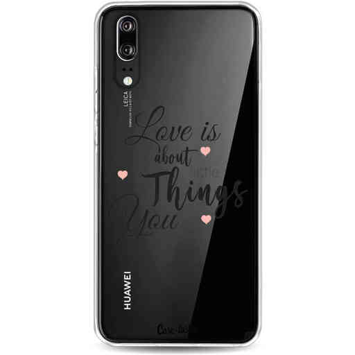 Casetastic Softcover Huawei P20 - Love is about