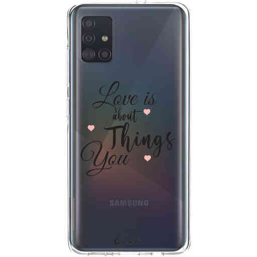 Casetastic Softcover Samsung Galaxy A51 (2020) - Love is about