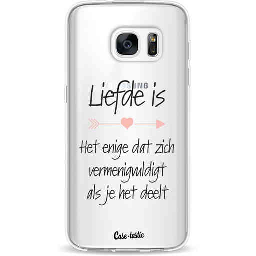 Casetastic Softcover Samsung Galaxy S7 - Liefde is