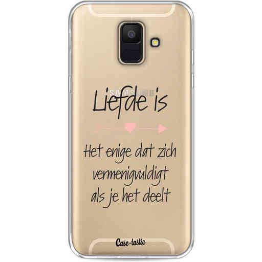 Casetastic Softcover Samsung Galaxy A6 (2018) - Liefde is