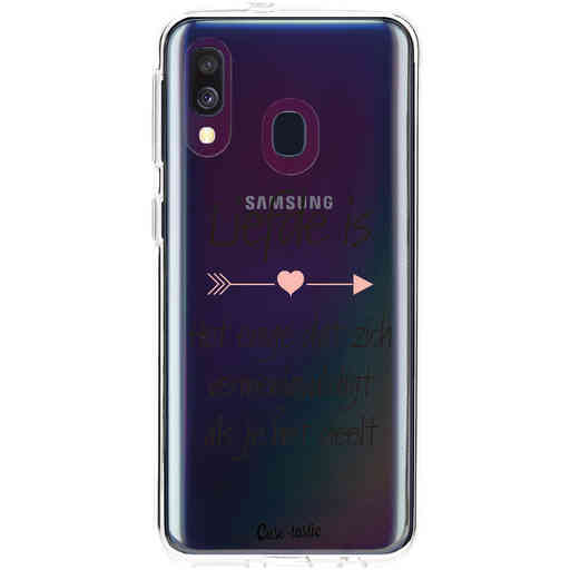Casetastic Softcover Samsung Galaxy A40 (2019) - Liefde is