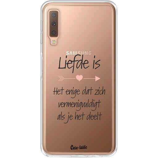 Casetastic Softcover Samsung Galaxy A7 (2018) - Liefde is