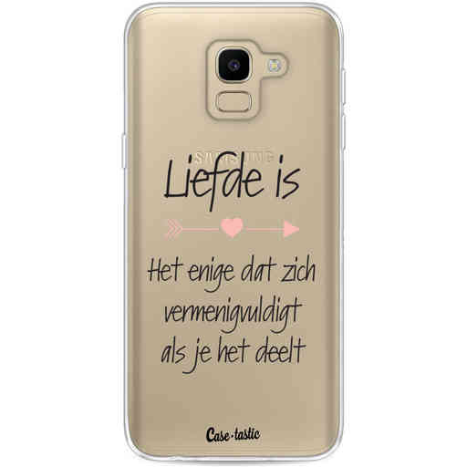 Casetastic Softcover Samsung Galaxy J6 (2018) - Liefde is