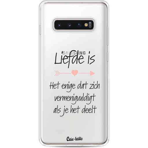 Casetastic Softcover Samsung Galaxy S10 Plus - Liefde is