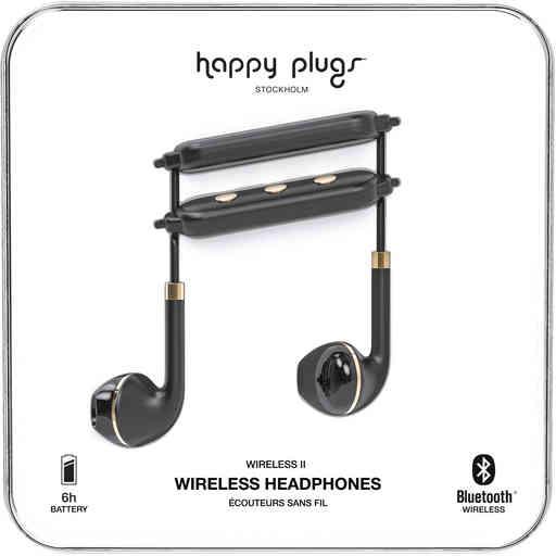 Happy Plugs Wireless II Black Gold