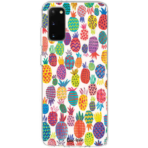 Casetastic Softcover Samsung Galaxy S20 - Happy Pineapples